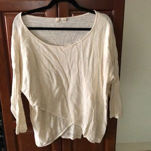 Anthropologie Cropped Light Sweater